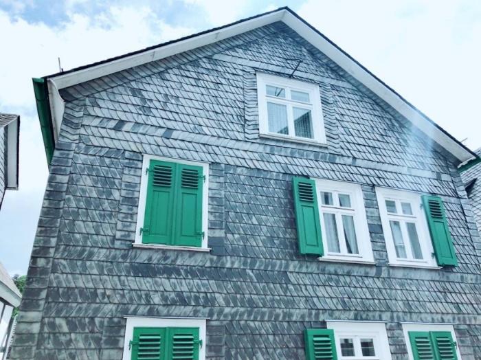 緑の出窓のお家
