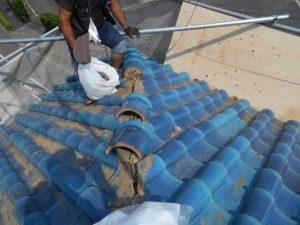 屋根の撤去