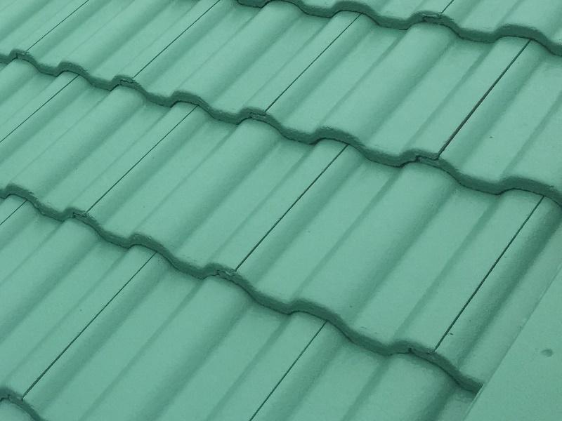 緑色の屋根