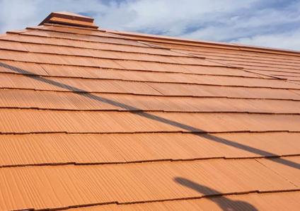 オレンジ色の屋根