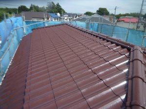 チョコレートブラウンの屋根