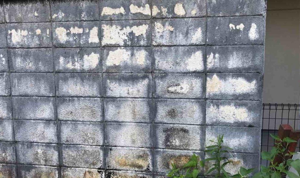 ブロック塀の塗装