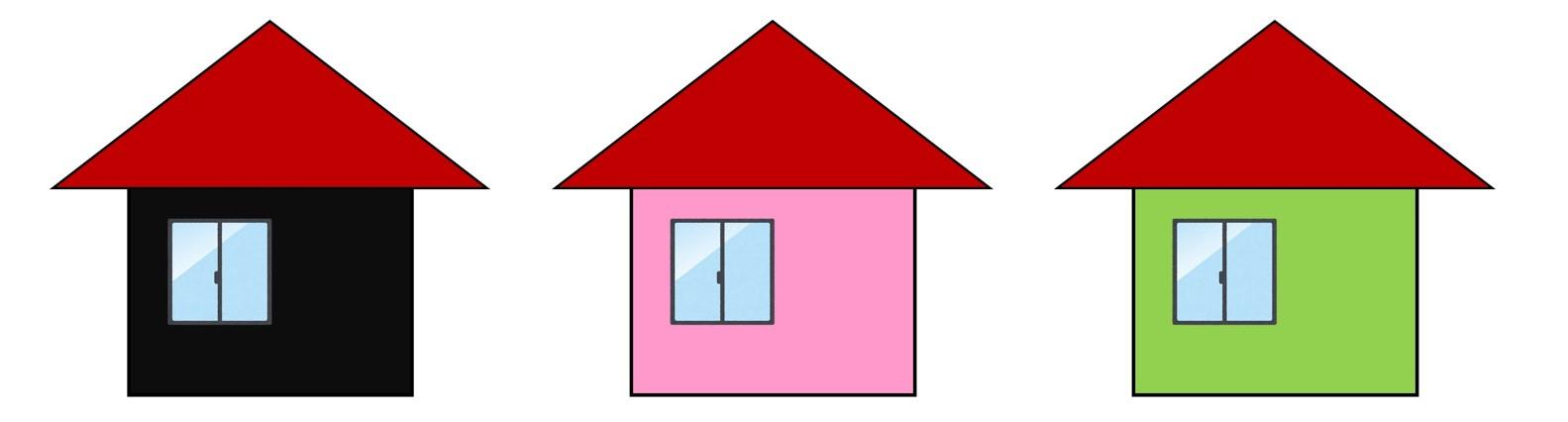 赤い屋根との組み合わせ