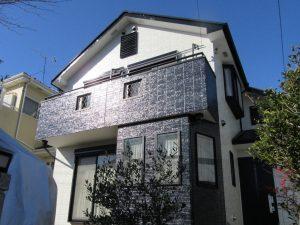 塗装された家