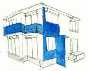 ネイビーのデザイン画