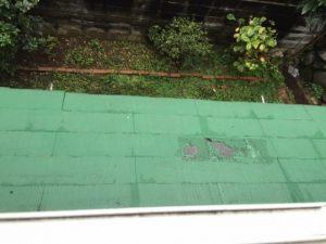 屋根の剥離