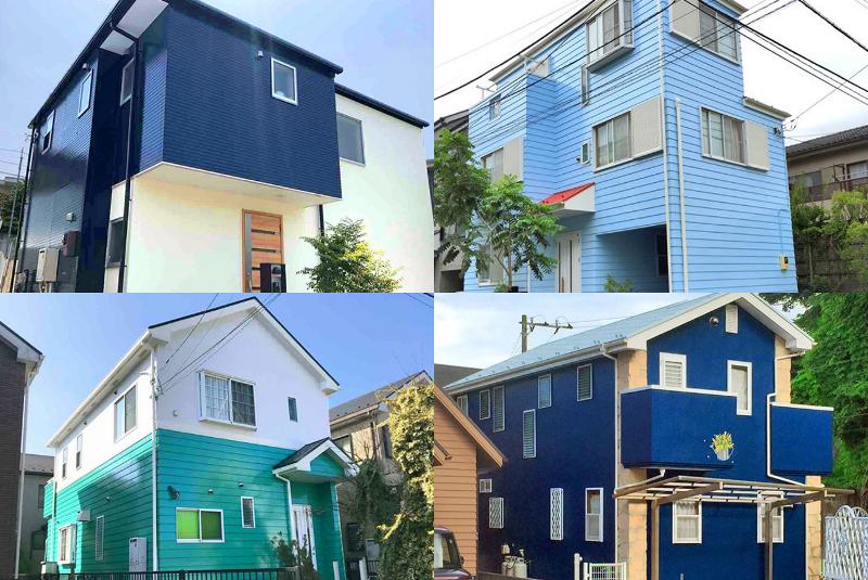 塗り替えたい色が見つかる!オシャレな青い外壁の施工事例35選