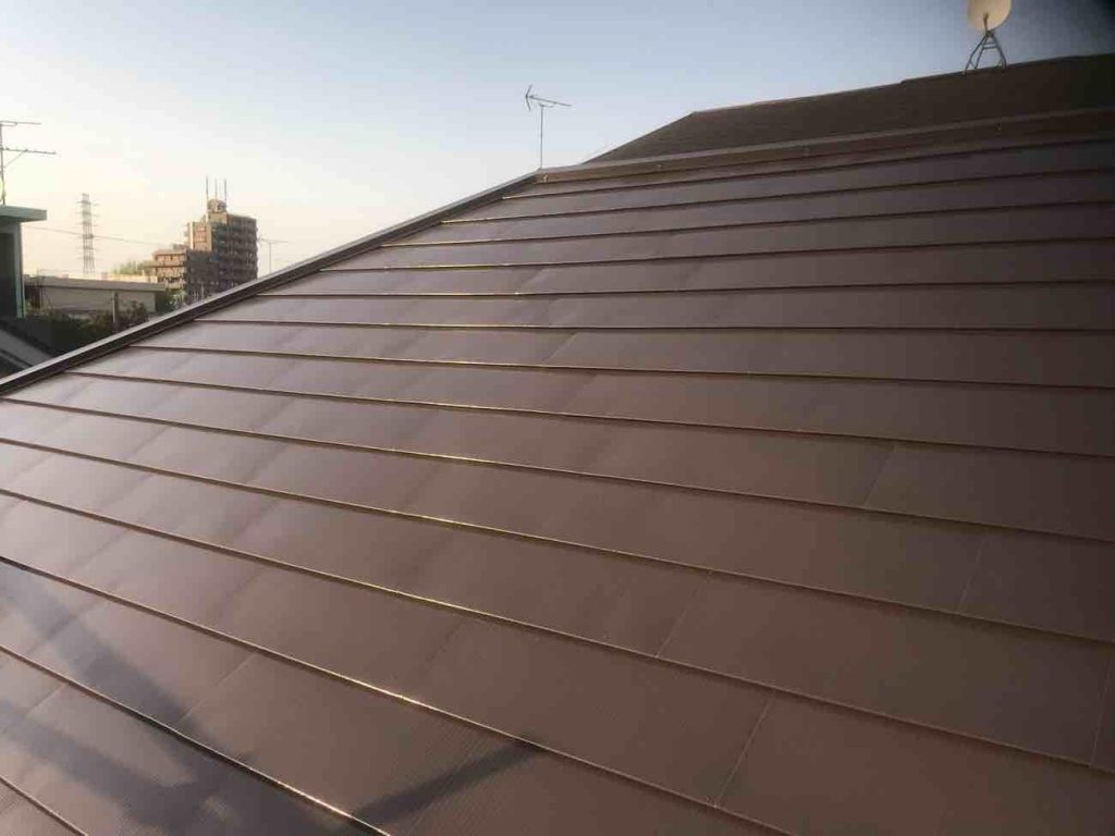 ガルバリウムの塗装 屋根