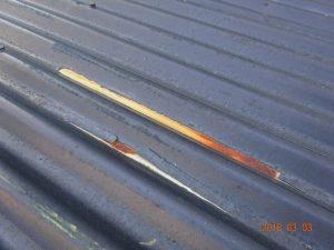 屋根の錆び