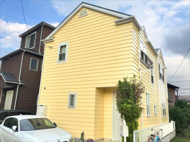 外壁 黄色