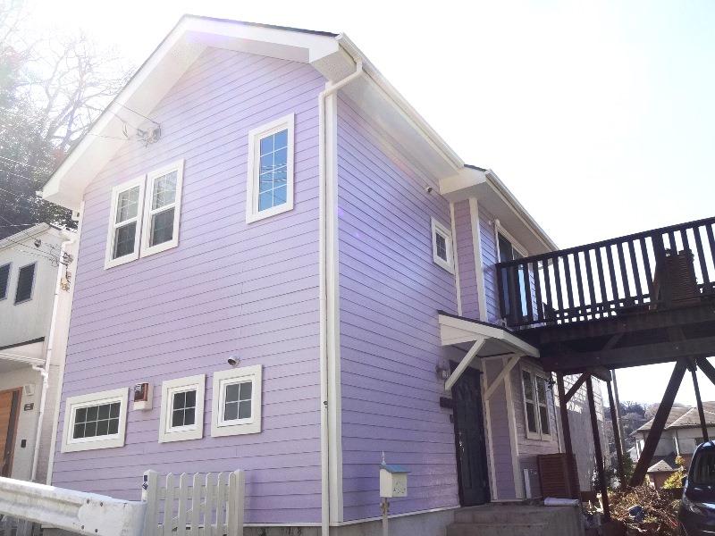 魅力あふれる紫の外壁事例14選!素敵に仕上がる配色と色選びのコツ