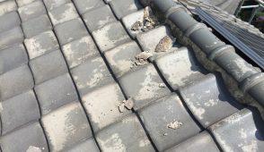 屋根瓦漆喰の補修