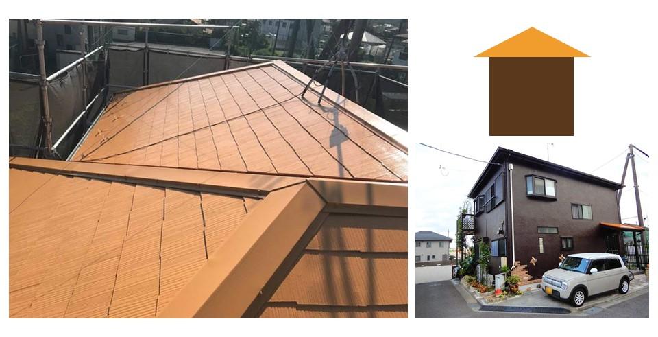 オレンジの屋根