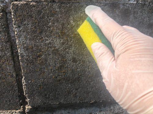 ブロック塀の掃除