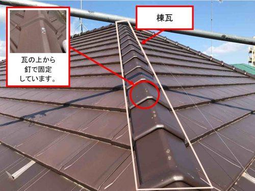 瓦屋根の釘