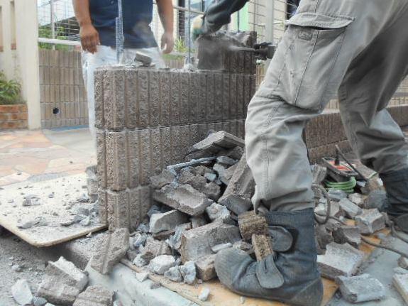 ブロック塀補修