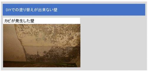 塗装不可な壁
