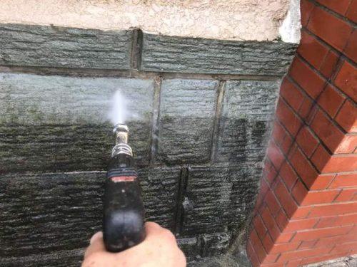 ブロック塀 洗浄