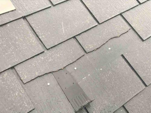 屋根 割れ