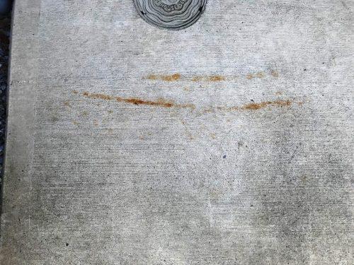 コンクリート汚れ 錆び