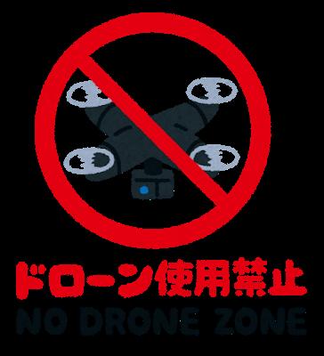 ドローン禁止区域