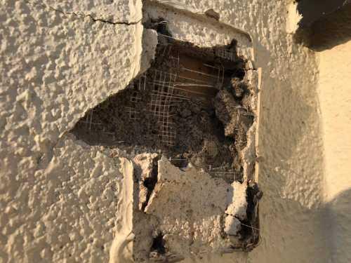 外壁の穴あき