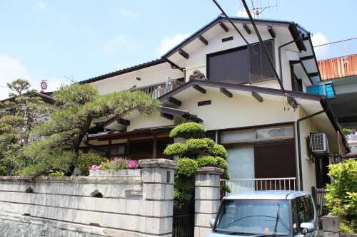 リシン搔き落とし外壁の家