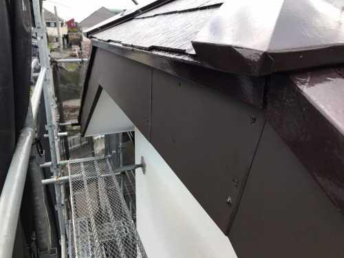 破風板 板金工事