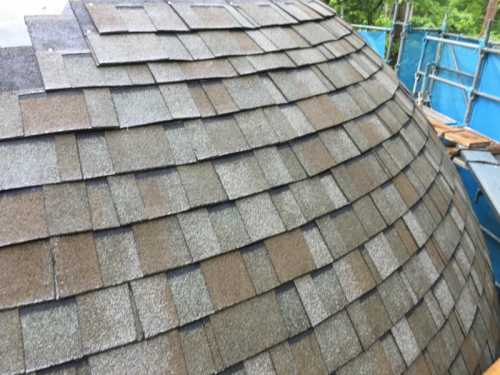 アスファルトシングル ドーム状の屋根
