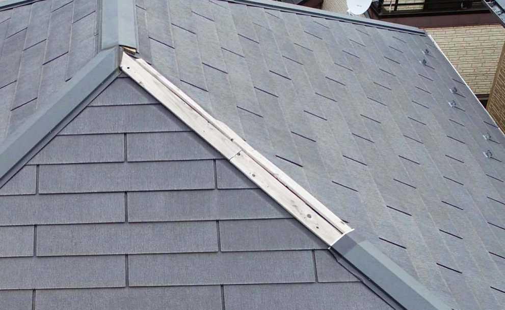 屋根点検、台風後