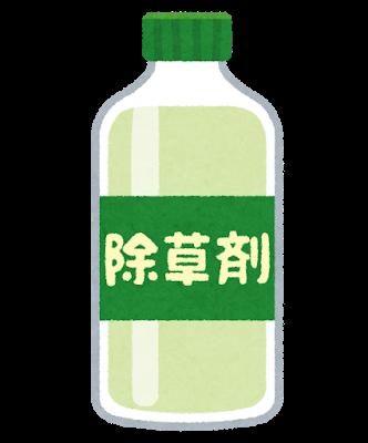 除草剤での除去