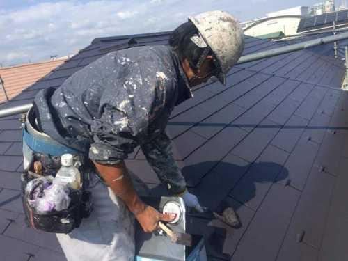 屋根 塗装職人