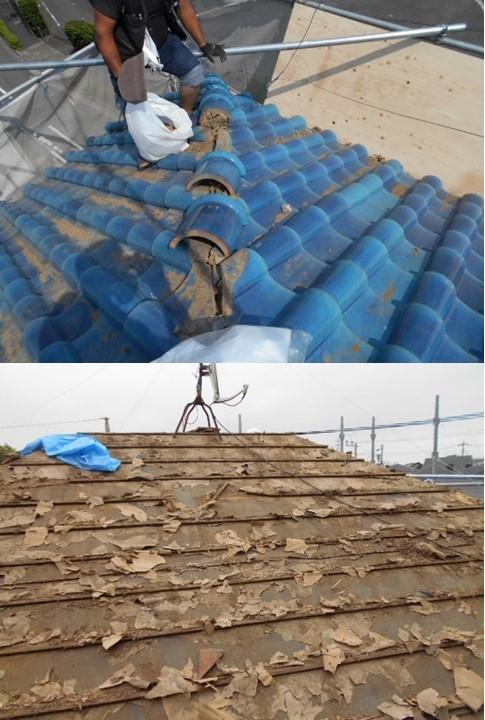 屋根 撤去