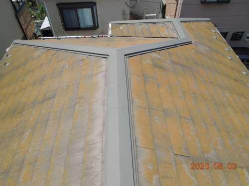 屋根 カビコケ