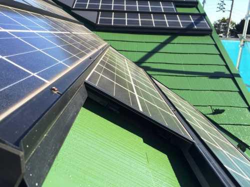 太陽光パネル 屋根塗装