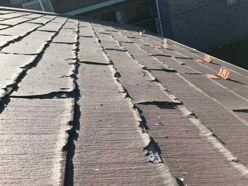 屋根材の不具合